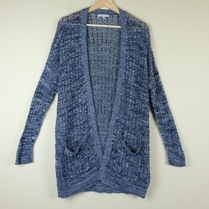 American Eagle Outfitters Navy Knit open Cardigan
